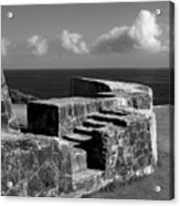 Old Fort Steps 2 Acrylic Print