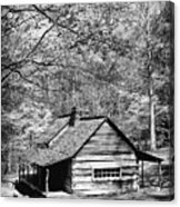 Old Frontier Cabin  Acrylic Print