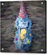 Old Garden Gnome Acrylic Print