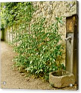 Old Garden Tap Acrylic Print