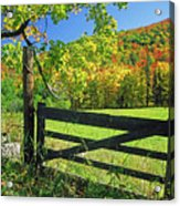 Old Gate At East Orange Acrylic Print