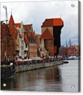 Old Gdansk Port Poland Acrylic Print by Sophie Vigneault