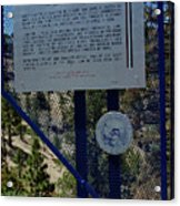 Old Geiger Grade Nevada Acrylic Print