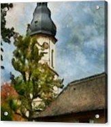 Old German Church Tower Acrylic Print