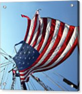 Old Glory Blowing In The Breeze Acrylic Print