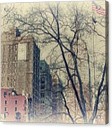 Old Glory In Old Style And Empire Acrylic Print by Alex AG