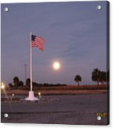 Old Glory Looking Awesome Acrylic Print