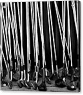 Old Golf Clubs Acrylic Print