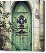 Old Gothic Door Acrylic Print