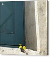 Old Greek Door Acrylic Print