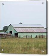 Old Green Barn    Washington State Acrylic Print
