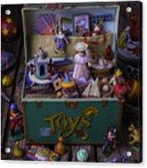 Old Green Toy Box Acrylic Print