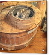 Old Grinding Wheel In A New Environment Acrylic Print