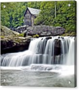 Old Grist Mill In Babcock State Park West Virginia Acrylic Print