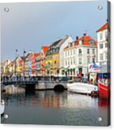 Old Harbour Of Nyhavn  Acrylic Print