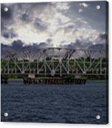 Old Highway 41 Swing Bridge Over The Wando River In Charleston Sc Acrylic Print