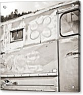 Old Hippie Peace Van Acrylic Print