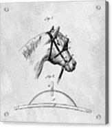 Old Horse Blinker Patent Acrylic Print