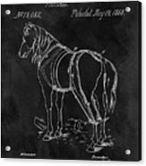 Old Horse Harness Patent  Acrylic Print