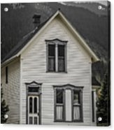 Old House And Dandelions Acrylic Print