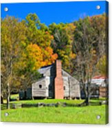 Old House In Cades Cove Tn Acrylic Print