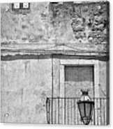 Old House In Taormina Sicily Acrylic Print by Silvia Ganora