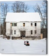 Old House In The Snow Springfield New Hampshire Acrylic Print