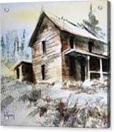 Old House Marysville Ghosttown Montana Acrylic Print
