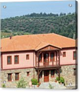 old house Sithonia Greece summer vacation scene Acrylic Print