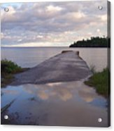 Old Hovland Dock After The Storm Acrylic Print