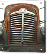 Old International Gravel Truck Acrylic Print by Randy Harris
