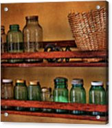 Old Jars Acrylic Print by Lana Trussell