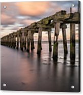 Old Jetty Near Castlerock Acrylic Print