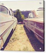 Old Junkyard Cars Chevy And Ford Utah Acrylic Print
