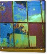 Old Lace Factory Window Acrylic Print