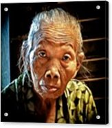 Old Lady Acrylic Print