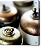 Old Light Switches Acrylic Print