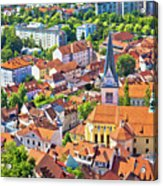 Old Ljubljana Cityscape Aerial View Acrylic Print