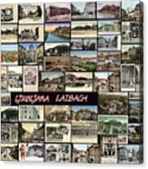 Old Ljubljana Collage Acrylic Print