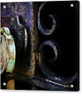 Old Lock On A Cast Iron Gate Acrylic Print