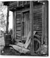 Old Log House Acrylic Print