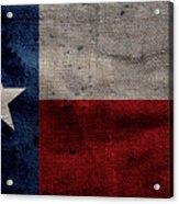 Old Lone Star Flag Acrylic Print
