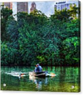 Old Love And Central Park Lake Acrylic Print