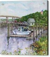 Old Lyme Boat Yard At The Dep Acrylic Print
