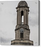 Old Main From Front Clock Acrylic Print