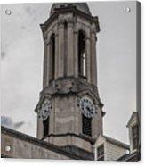 Old Main Penn State Clock  Acrylic Print