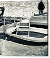 Old Man And Boat Acrylic Print