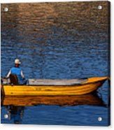 Old Man And His Boat Acrylic Print