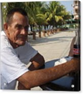 Old Man Drinking Coca Cola Acrylic Print