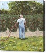 Old Man In Garden Acrylic Print